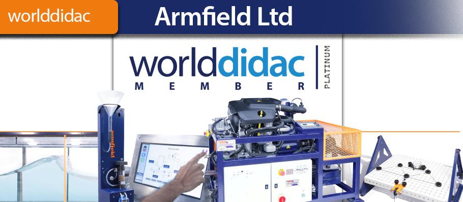 Armfield Platinum Membership of the Worlddidac Association
