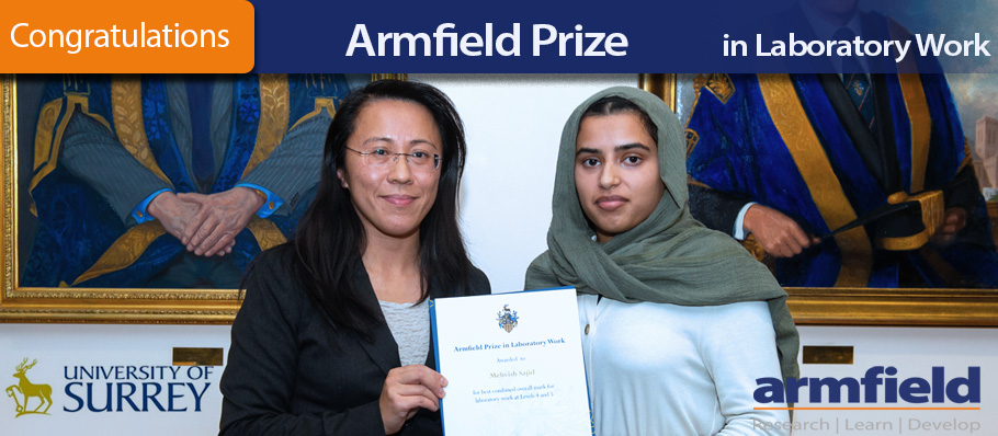 Armfield Prize for Laboratory Work 2019 University of Surrey